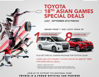 Promo Toyota Solo Menjelang Asian Games 2018